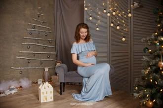 Новогодняя фотосессия 2018, беременная девушка