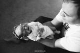 Домашняя фотосессия новорождённого в Риге.