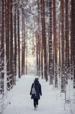 Прогулка по зимнему лесу. Фотосессия в Риге.