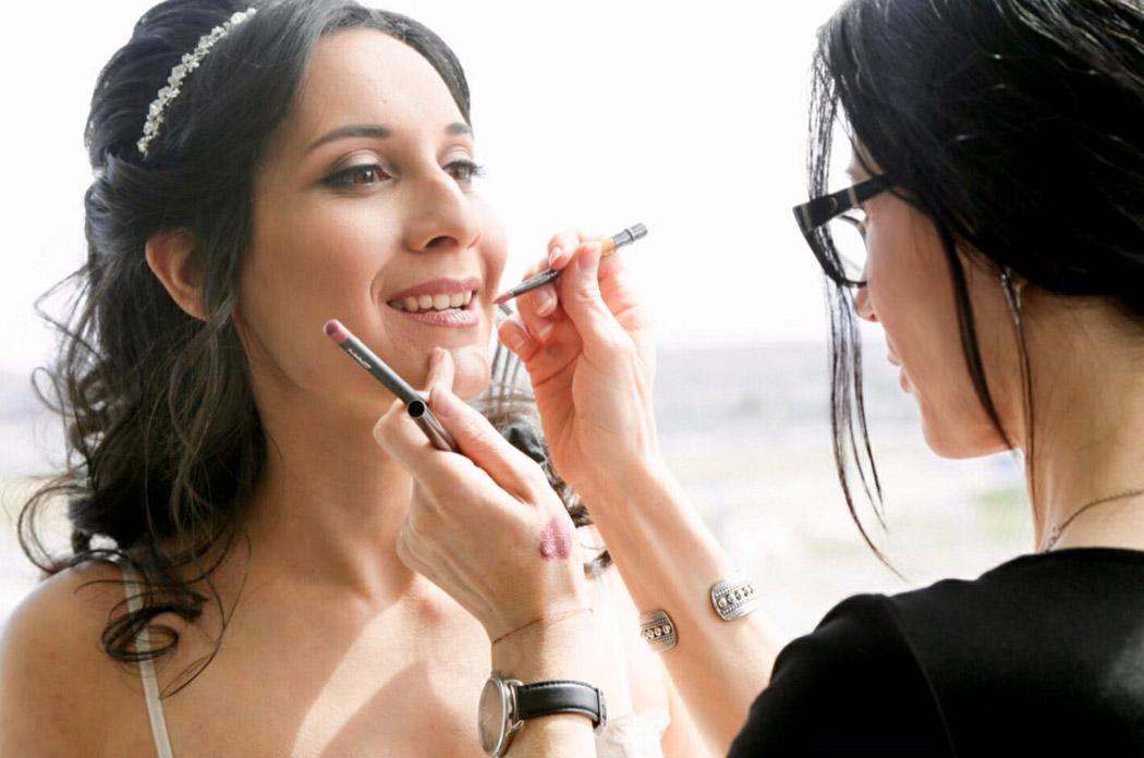 BTS makeup of bride