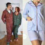 Klassischen Pyjama Nahen Schlafanzug Fur Die Ganze Familie