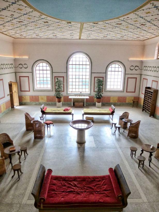 Die basilika thermarum war der zentrale Versammlungsraum der Therme.