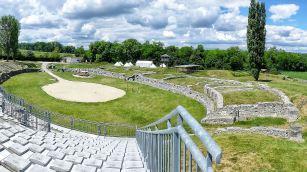 Das Amphitheater der Militärsiedlung Carnuntums im heutigen Bad Deutsch Altenburg.
