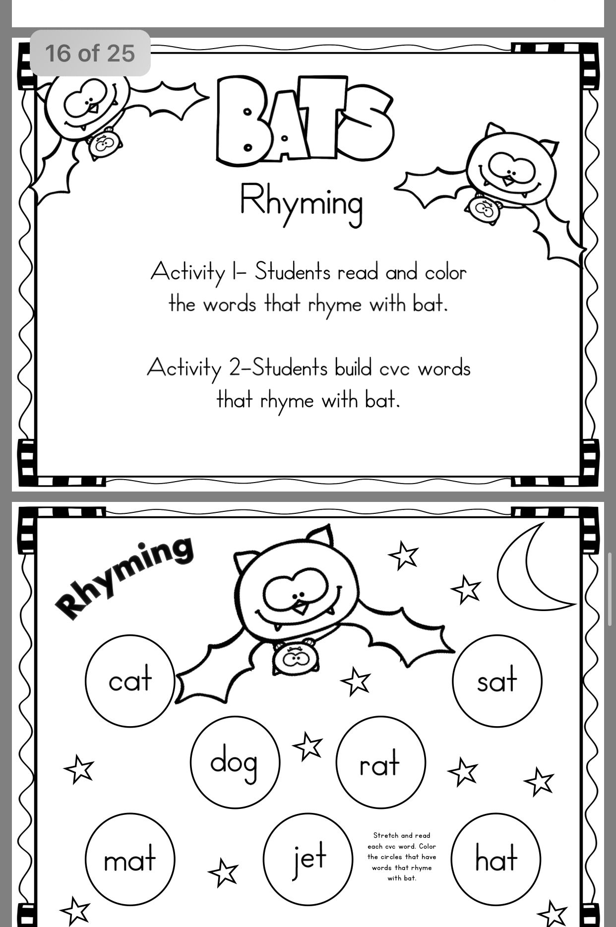 7 Best Rhymes Coloring Kindergarten Images On All About