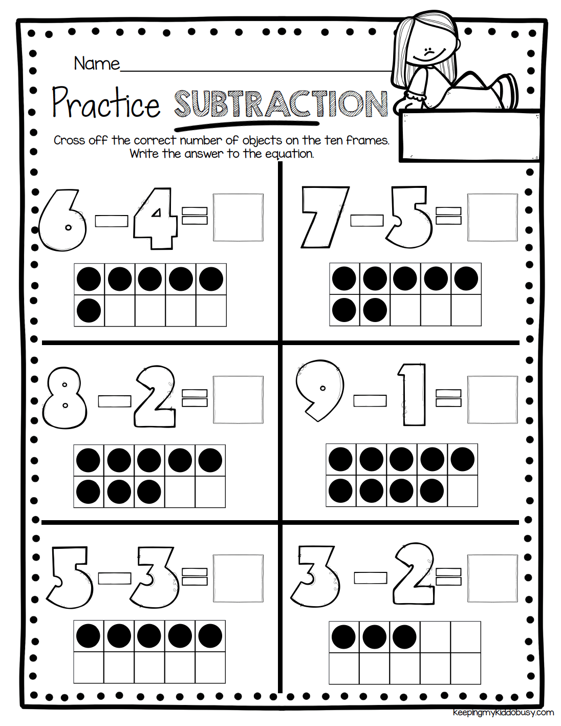 22 Best Kindergarten Worksheets Subtraction Coloring