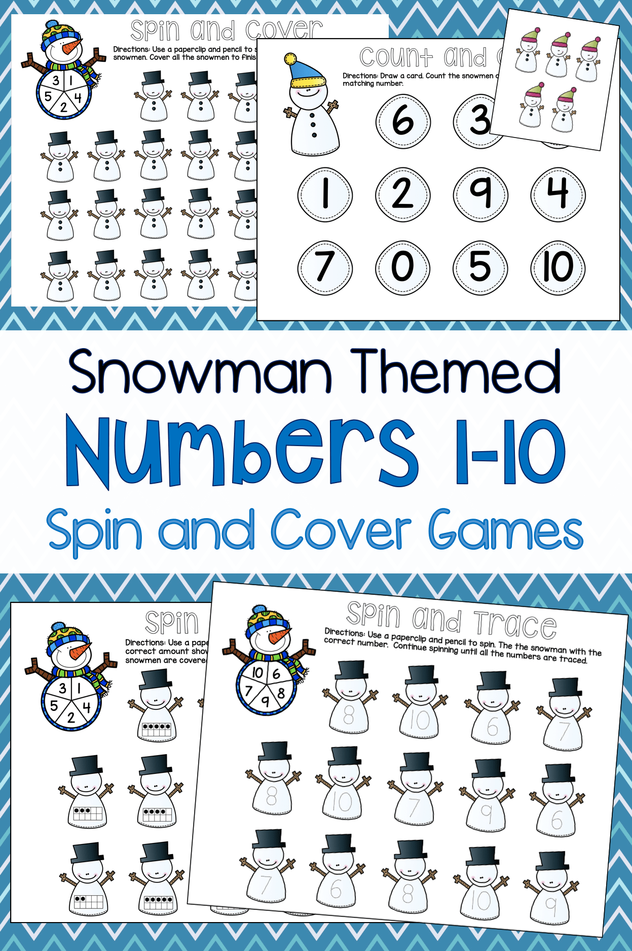 Snowman Count Spin Amp Cover Games