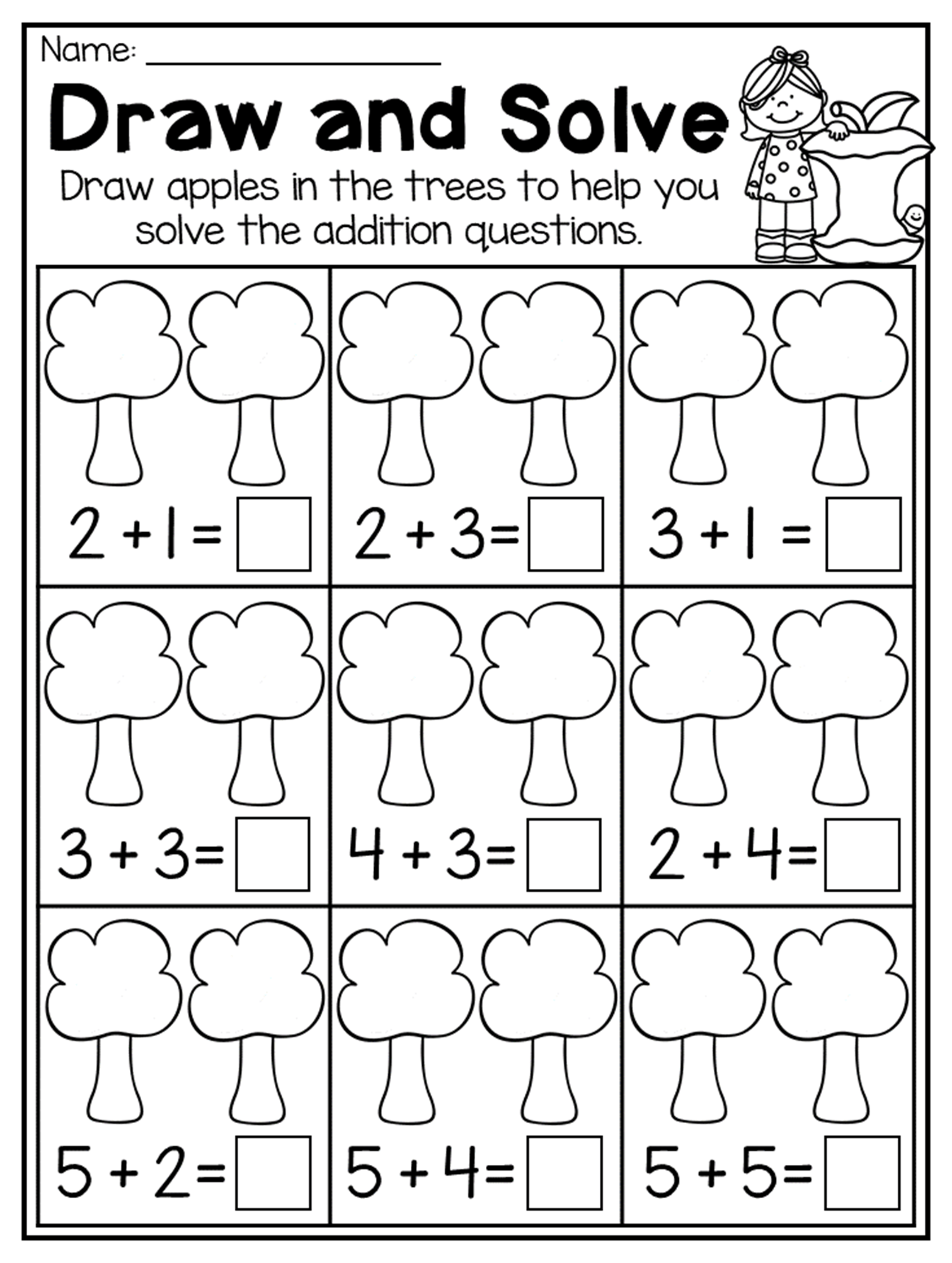 11 Best Autumn Math Worksheets For Kindergarten Images On