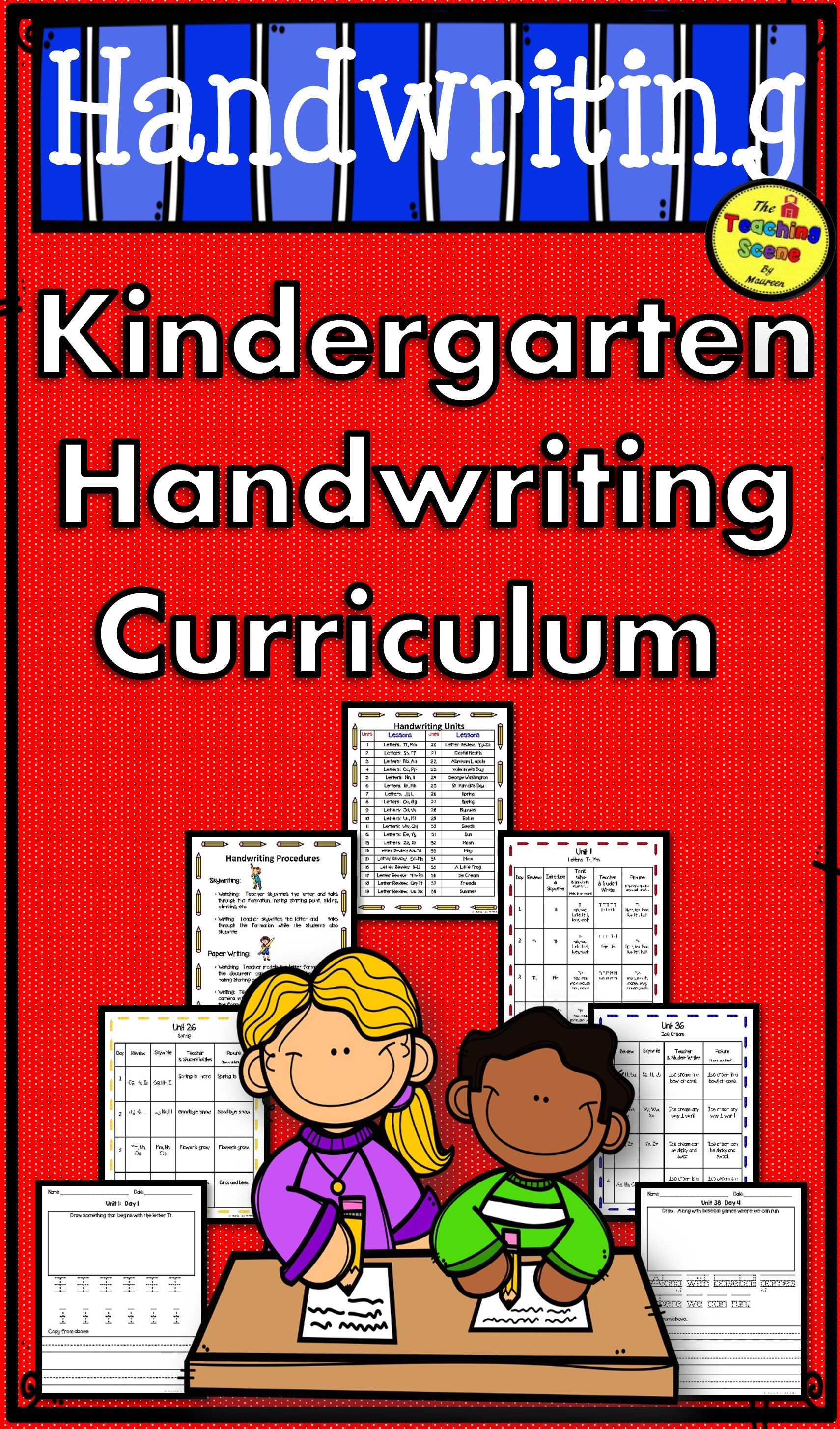 13 Best Kindergarten Cursive Curriculum Images On All