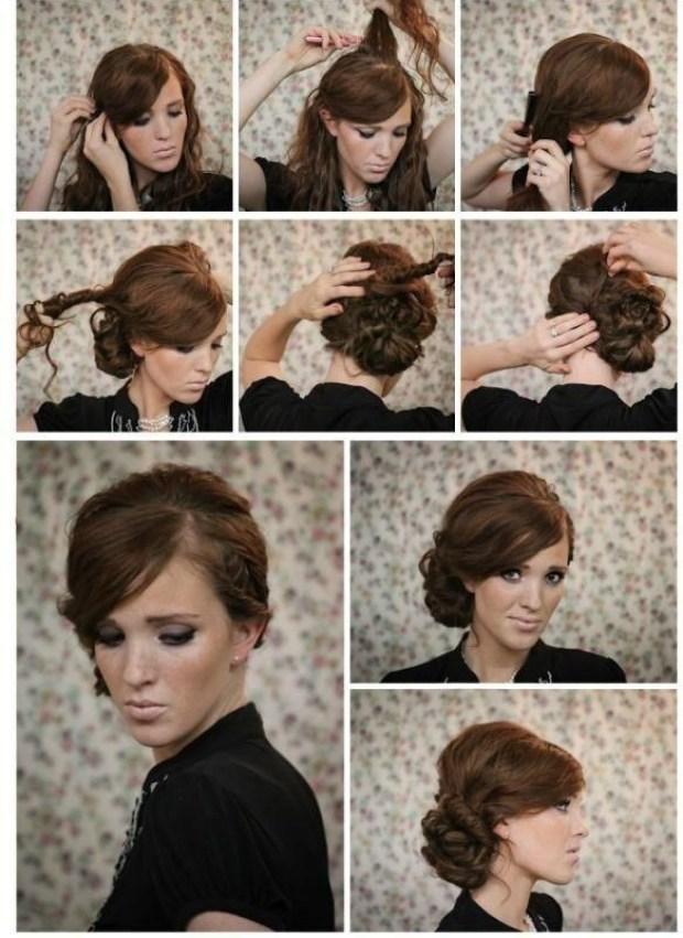 Twisted-Side-Bun-Updo-Hairstyles-Tutorials