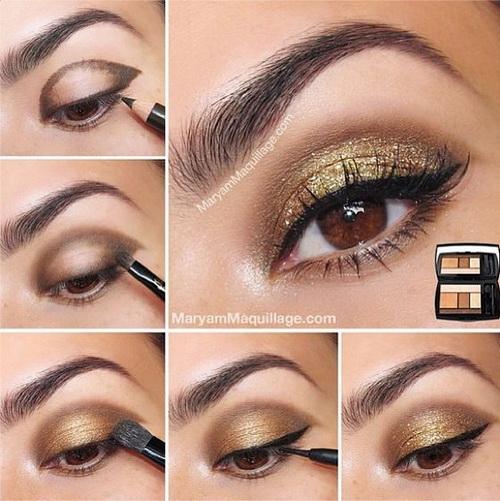 gold-glitter-eye-makeup-tutorial