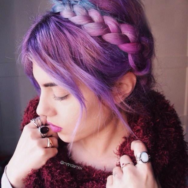 4-pastel-purple-hair-color-and-milkmaid-braid-updo
