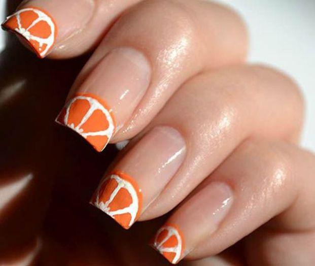 fruit nails design french