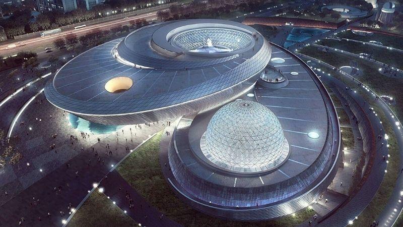 The building of world's largest planetarium