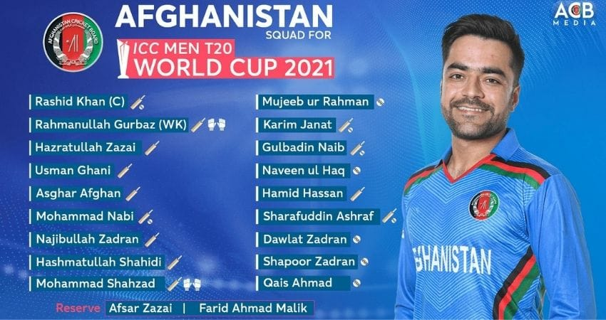 Afghanistan T20 Squad for World Cup