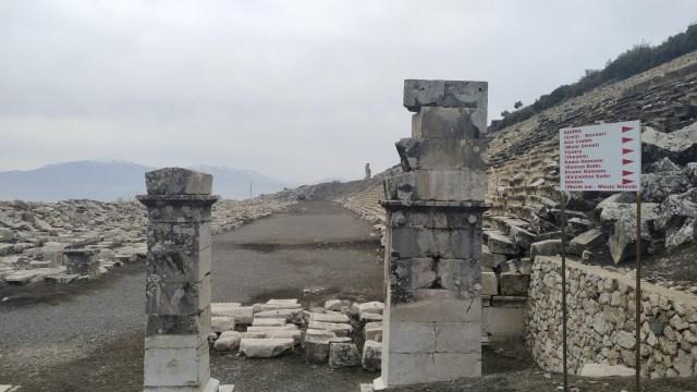 kibyra antik kenti stadyum girişi