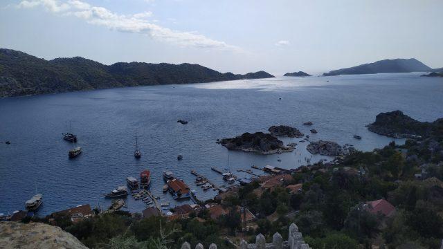 simena kalesinden deniz manzarası