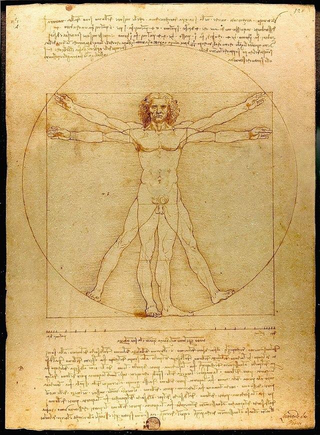 Leonardo da vinci'nin az bilinen tabloları vitruvius adamı tablosu