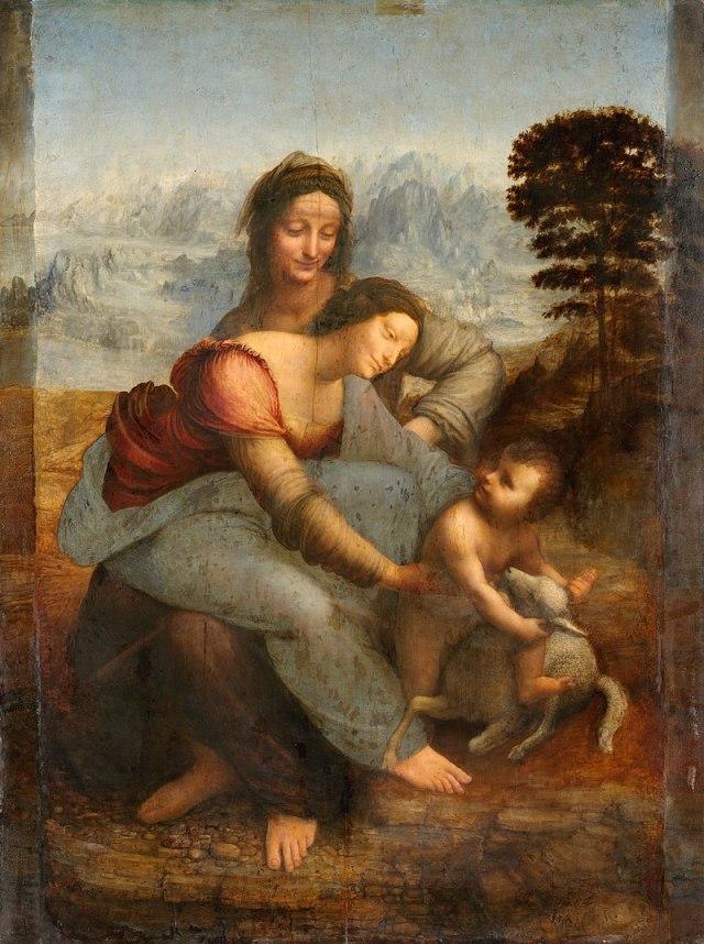 Leonardo da vinci'nin az bilinen tabloları anne meryem ve çocuk