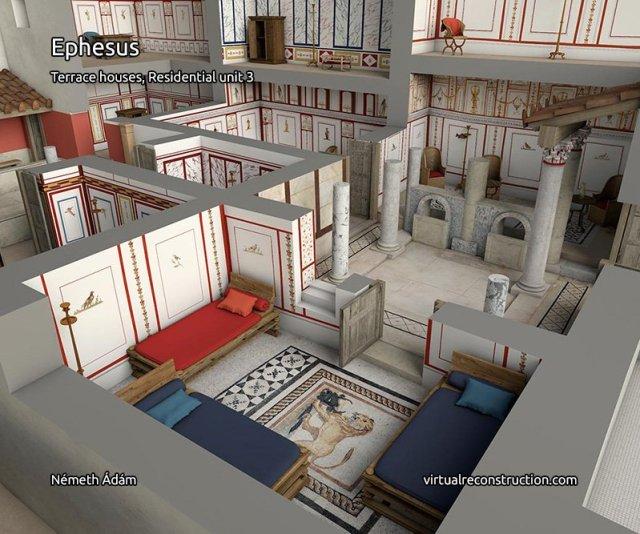 yamaç evler efes antik kentinin 2000 yıl önceki çizimleri