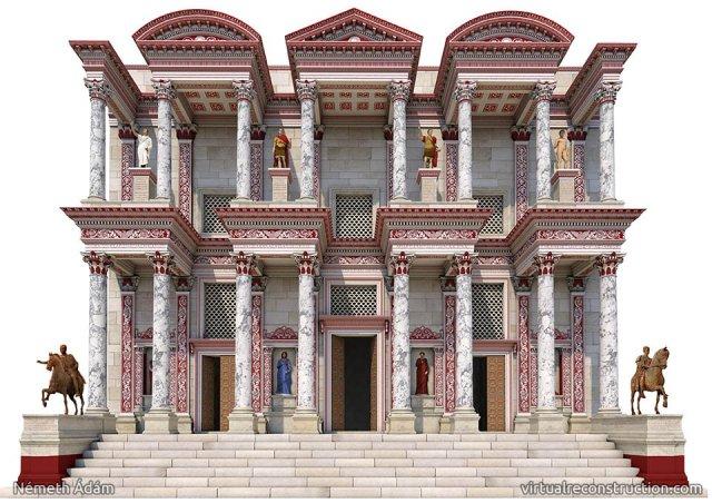 celsus kütüphanesi 2000 yıl önceki çizimleri
