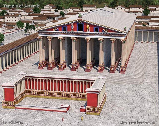 efes artemis tapınağı 2000 yıl önceki çizimi