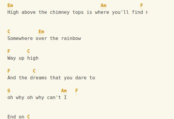 Somewhere Over The Rainbow Ukelele tab 4