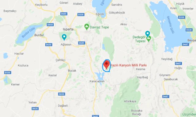 Yazılı Kanyon google maps