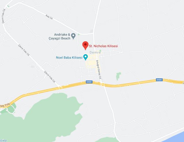 Noel Baba kilisesi google maps konumnu