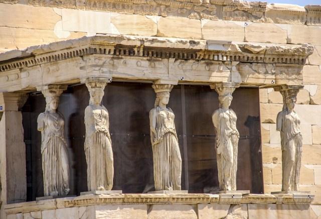 Atina Akropolisi Erehteyon Tapınağı günümüz
