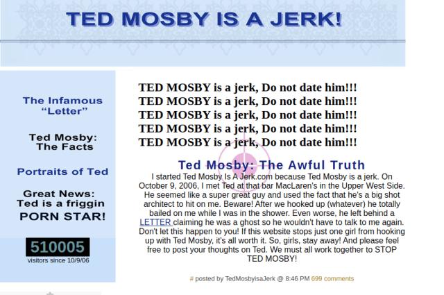 How I Met Your Mother Dizisinde Geçen Web Siteler ted mosby