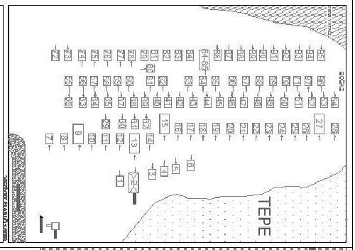 Bezirgan Tahıl Ambarları diziliş planı