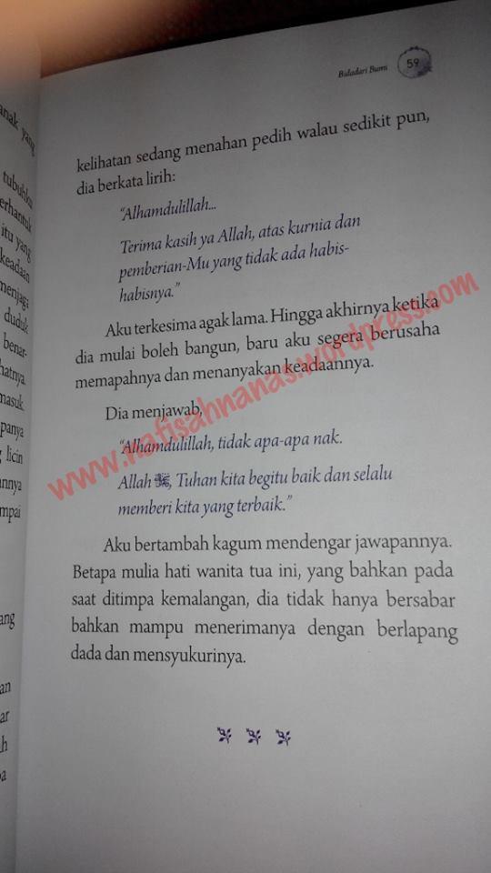 Ulasan buku : Bidadari Bumi - 9 kisah wanita solehah (karya Ustazah Halimah Alaydrus) (4/6)