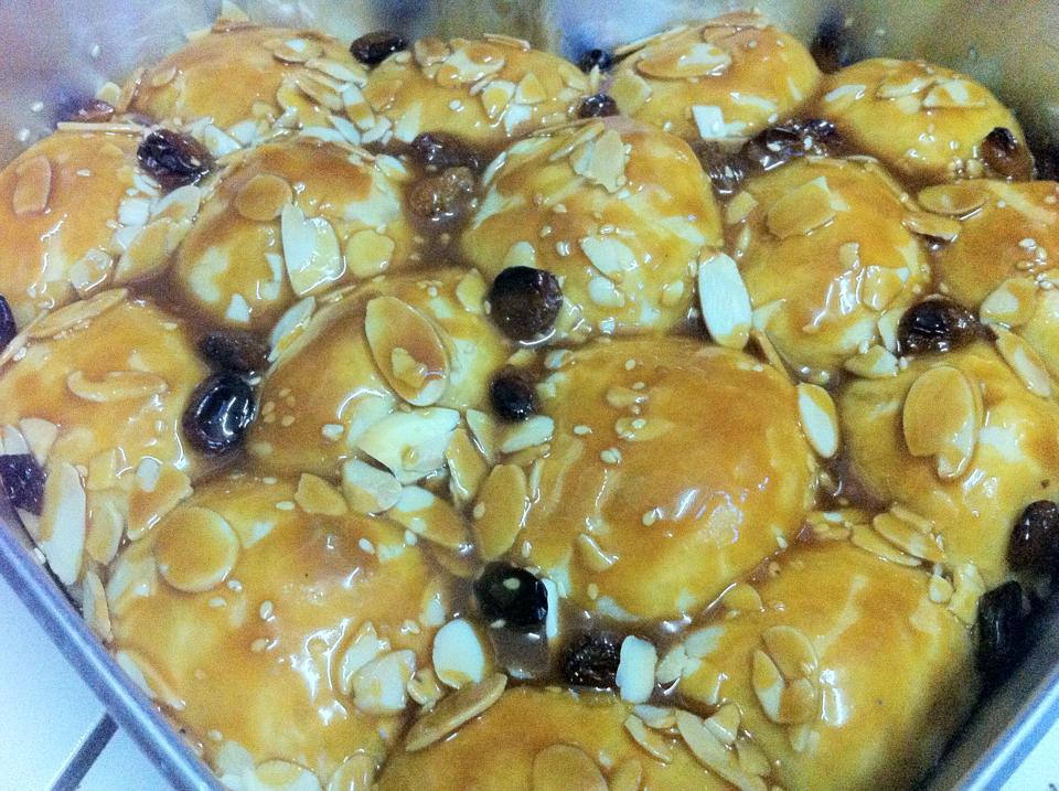 Roti sarang lebah ala-ala krunchy karamel almond (3/6)