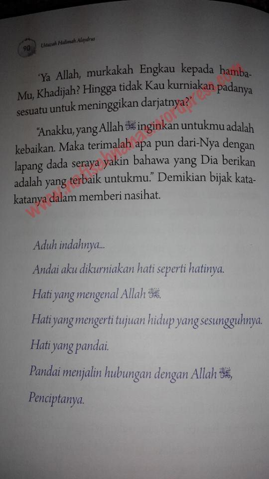 Ulasan buku : Bidadari Bumi - 9 kisah wanita solehah (karya Ustazah Halimah Alaydrus) (5/6)