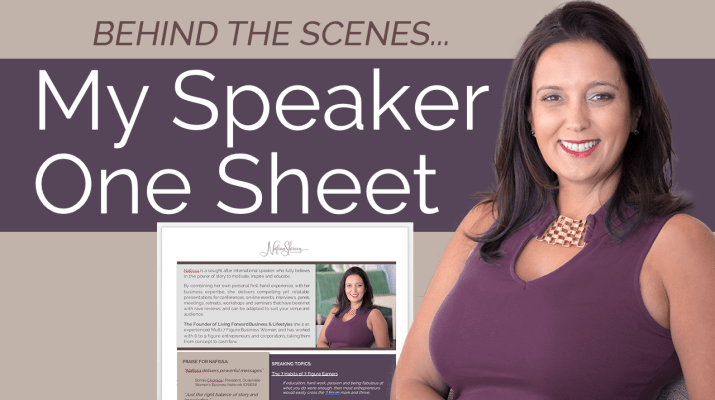 Speaker One Sheet