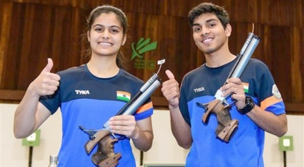 Manu -Anmol win Air Pistol mixed gold at ISSF Junior World Cup