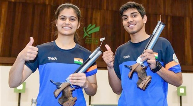Manu -Anmol win Air Pistol mixed gold at ISSF Junior World Cup