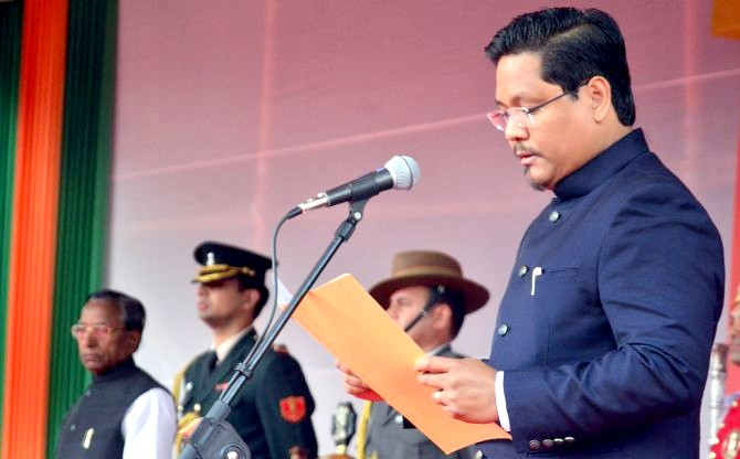 Conrad Sangma sworn in as Meghalaya chief minister