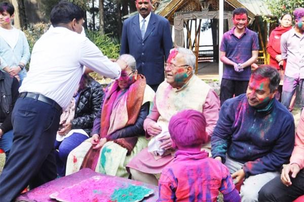 Holi celebrated at Raj Bhavan