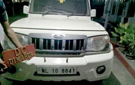 No designation plates on vehicles
