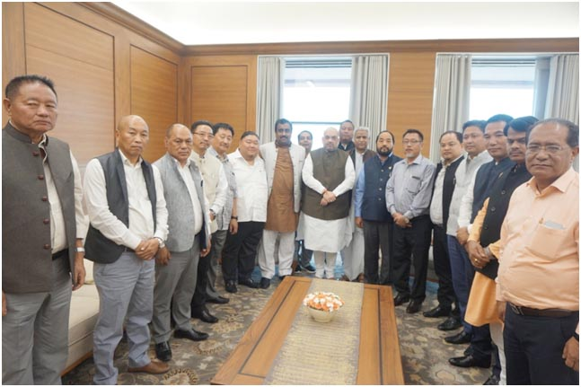 State BJP delegation calls on Amit Shah