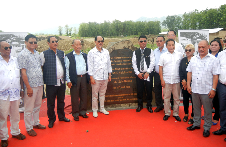 Rio lays foundation stone for  Dr T Ao Regional Football Academy