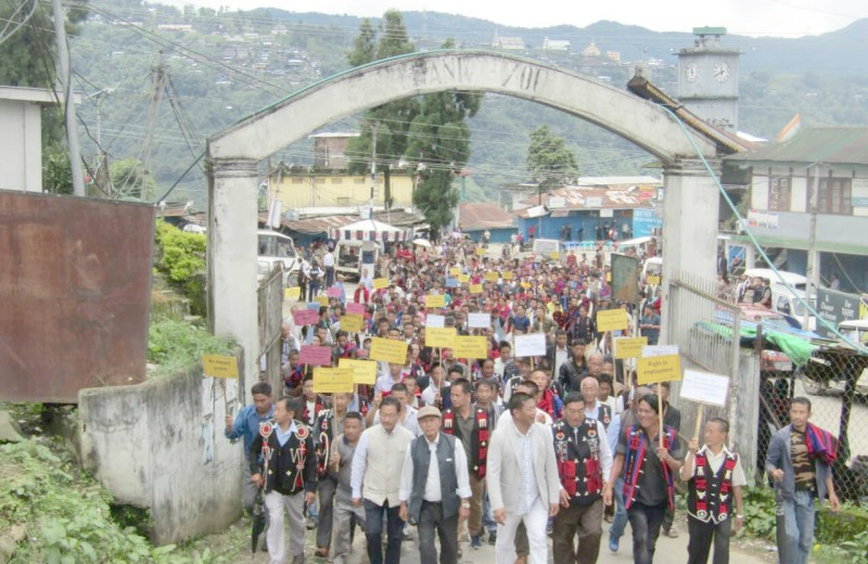 ENPO hold rallies demanding separate  Frontier Nagaland State