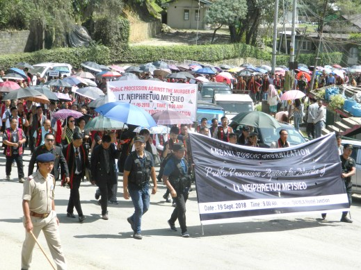 APO holds public procession against murder