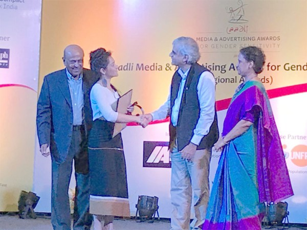 State journalist gets Laadli Award