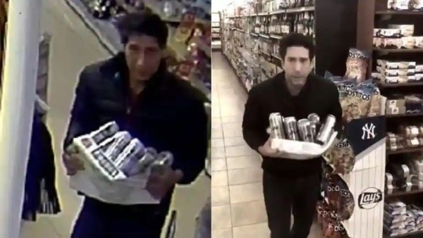 David Schwimmer proves he didn't steal beer from a grocery store
