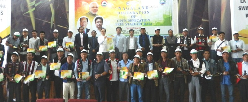 Nagaland declared Open Defecation Free State (Rural)