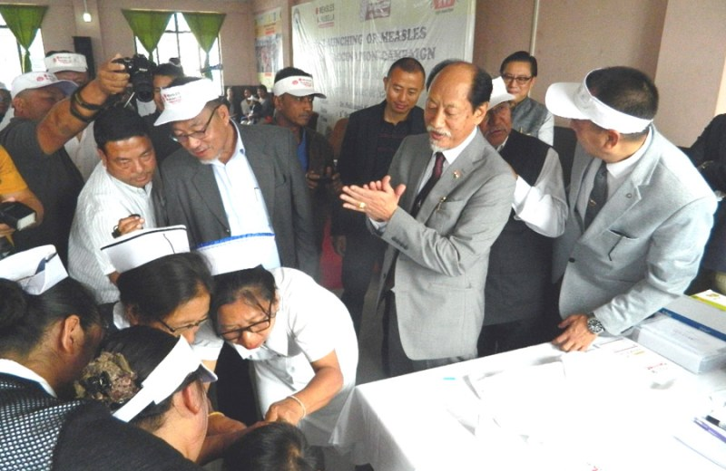 Rio launches Measles-Rubella  vaccination campaign in Nagaland; Asks people not to believe in rumours