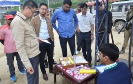 DQCTF inspects petrol pumps at Wokha