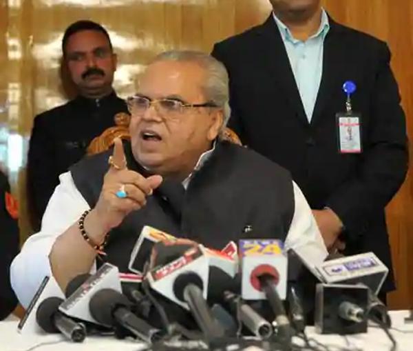 'Unholy alliance': Governor Malik  backs elected govt in J-K row